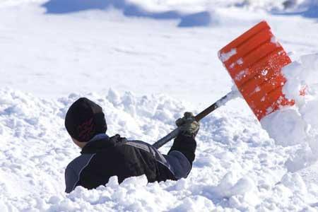 Уборка снега. Фото 1. Хабаровск.