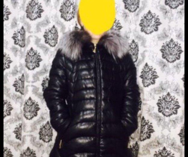 Куртка зимняя экокожа. Фото 3. Москва.