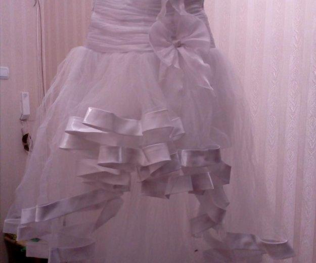 Продается свадебное платье б/у рамер 44. Фото 2. Нижневартовск.
