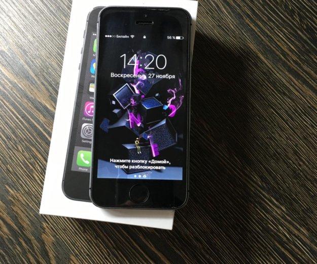 Iphone 5s, space gray, 16gb. Фото 3. Саратов.