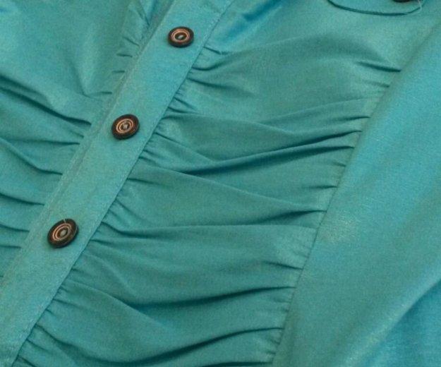 Блузка бирюза 44 разм. Фото 2. Краснодар.