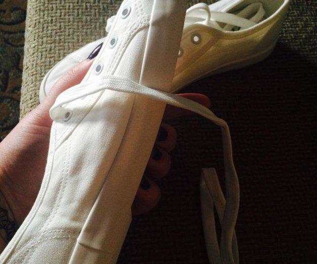 Кеды(белые)38-23,5см. Фото 3.