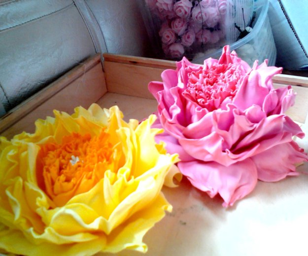Ручная работа,цветы на заколках, резинках!!!. Фото 4. Кызыл.