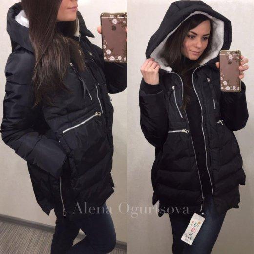 Женская куртка зимняя трансформер чёрная, 42-48. Фото 1. Москва.