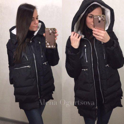 Женская куртка зимняя трансформер чёрная, 42-48. Фото 2. Москва.