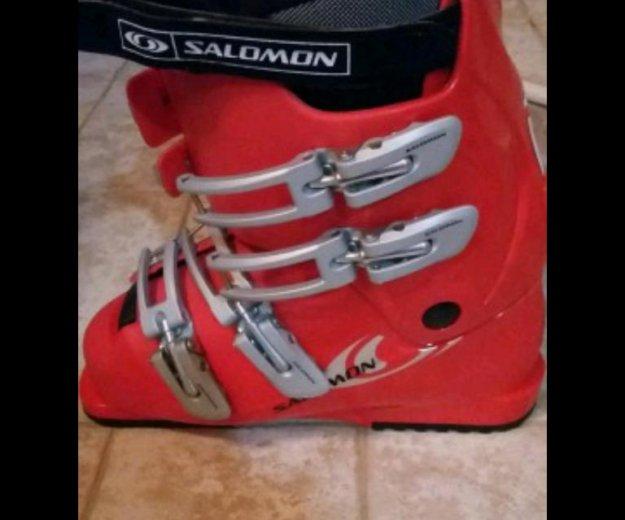 Горные лыжи(135см) и ботинки комплект.sаlomon. Фото 2. Одинцово.