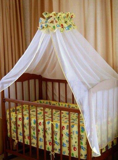 Бортик в кроватку и балдазин с держателем. Фото 1. Петрозаводск.