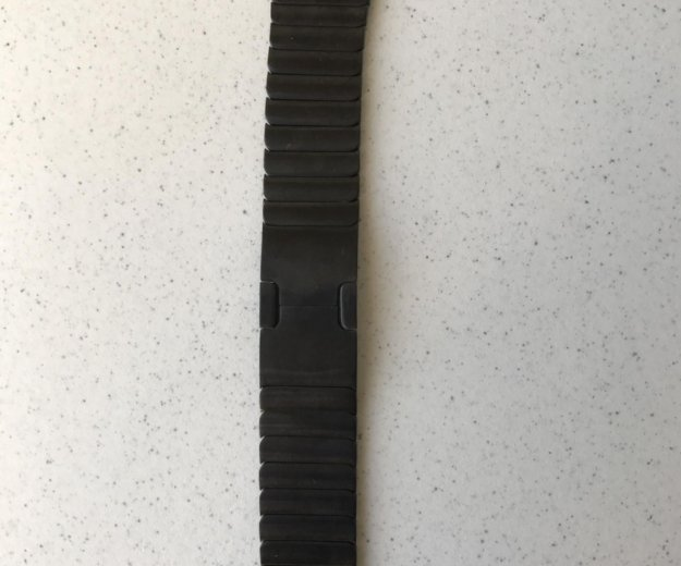 Чёрный блочный браслет 42 мм. Фото 2. Москва.