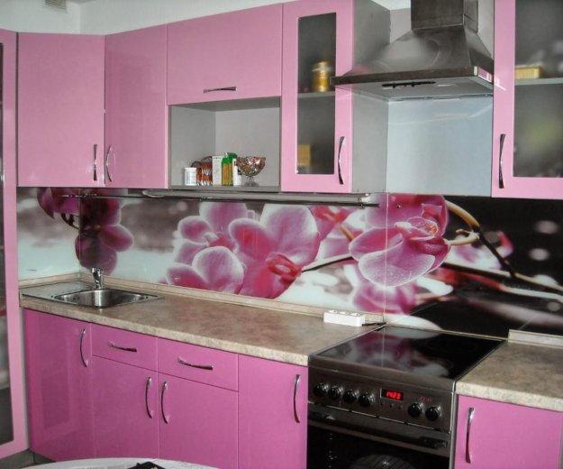 Стеклянный фартук для кухни. Фото 2. Химки.