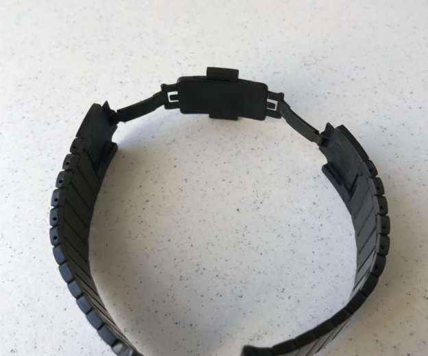 Чёрный блочный браслет 42 мм. Фото 4. Москва.