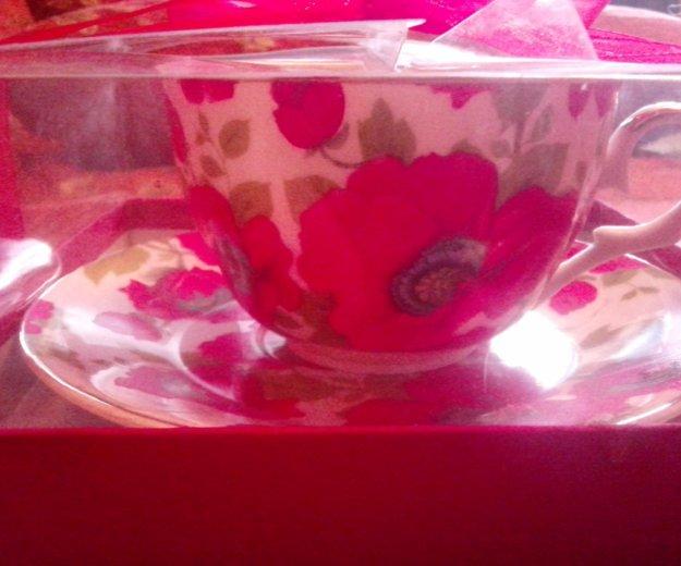 Чашка и блюдце маки. Фото 2. Видное.