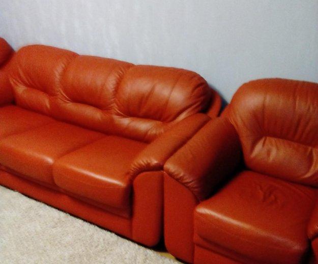Мягкая мебель из кожи. Фото 3. Новокузнецк.