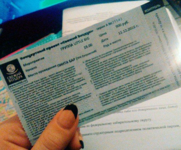 Билет на концерт. Фото 1. Ижевск.
