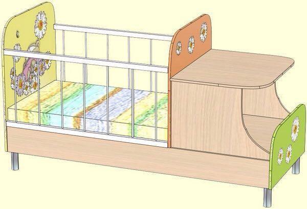 Детская кровать. Фото 1. Красногорск.