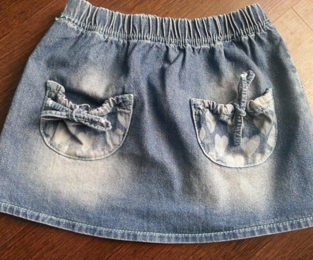 Юбка джинсовая 104см. Фото 1. Фрязино.