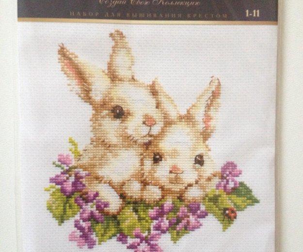 """🐇набор для вышивания крестом """"крольчата"""". Фото 1. Новочебоксарск."""