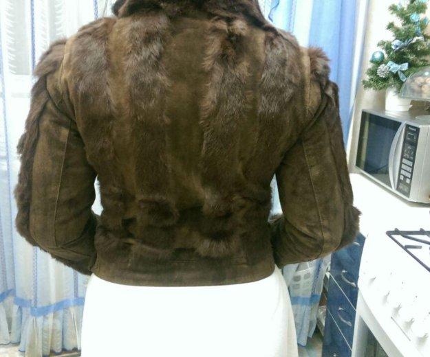 Куртка замша с кроликом. Фото 3. Ростов-на-Дону.
