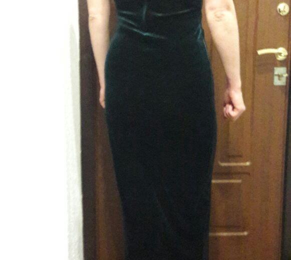 Платье вечернее тёмно-зелёное сша. Фото 2. Москва.
