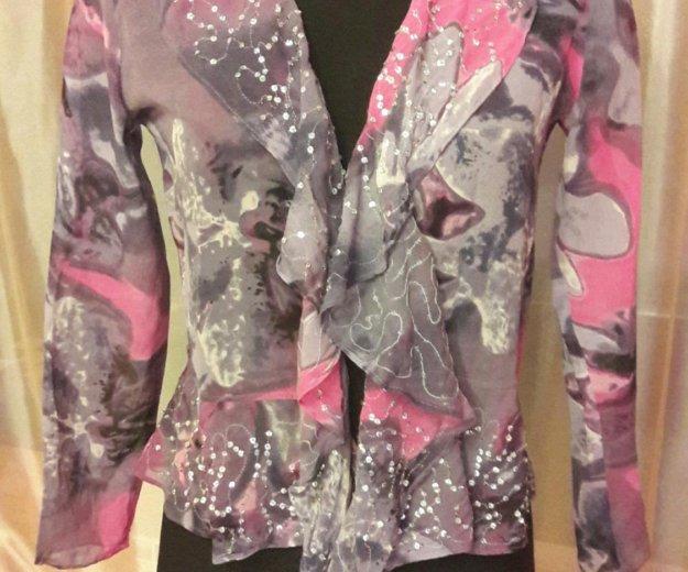 Новая блузка натуральный шелк дикая орхидея. Фото 2. Москва.