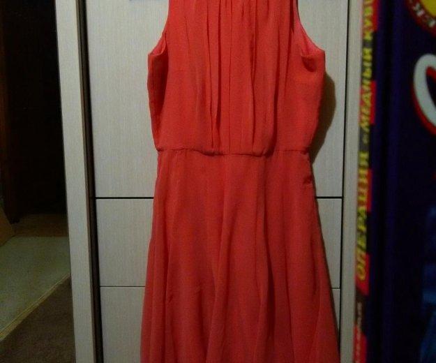 Платье коралловое,шифон,легкое. Фото 2. Новосибирск.