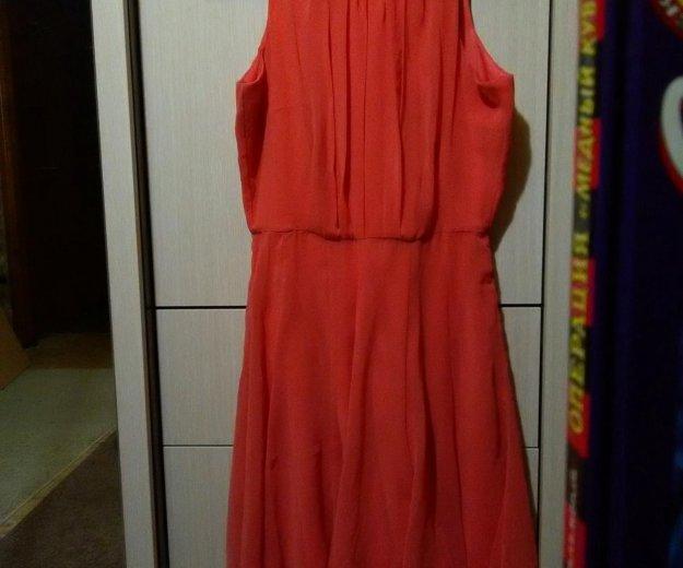 Платье коралловое,шифон,легкое. Фото 3. Новосибирск.