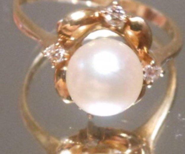 Кольцо жемчуг и бриллианты. Фото 1. Москва.