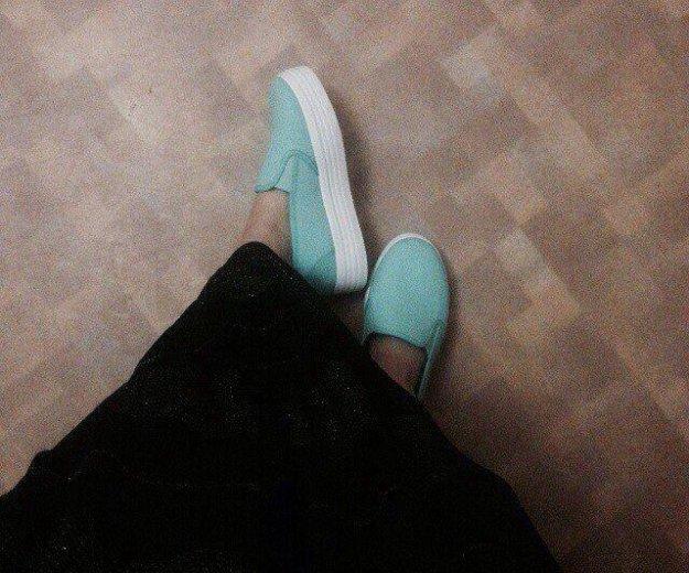 Обувь женская. слипоны мятные.. Фото 1. Нижневартовск.