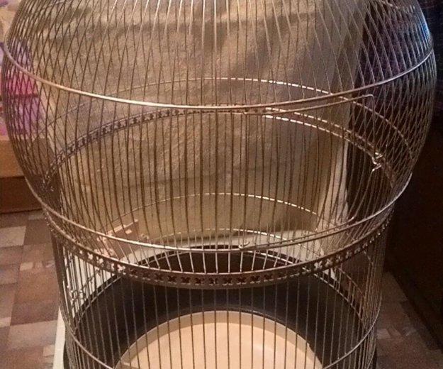 Клетка для попугая ферпласт, б/у. Фото 1. Москва.