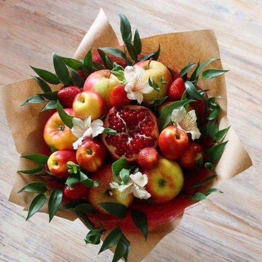 Вкусные букеты из овощей и фруктов. Фото 2. Ярославль.