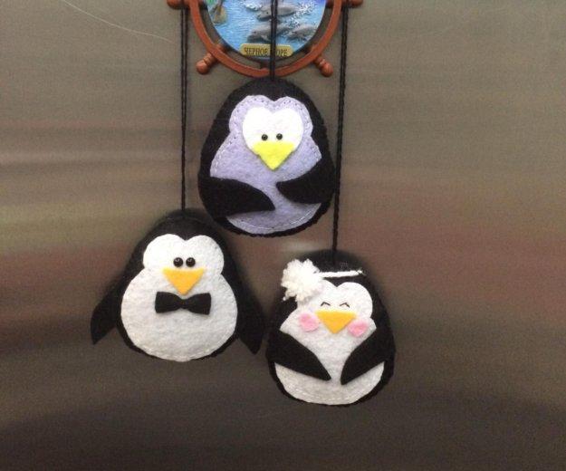 Ёлочные игрушки пингвины 3 шт. Фото 1. Москва.