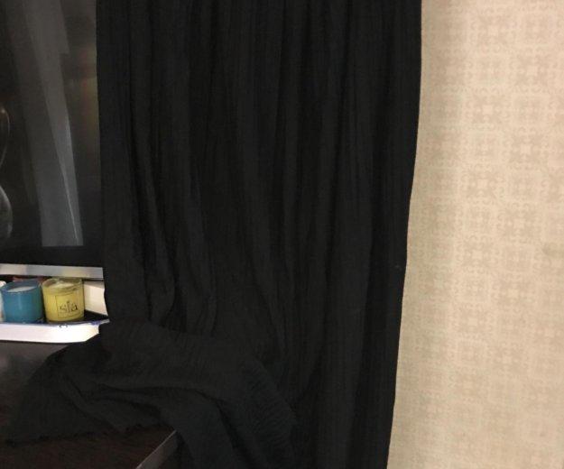Черная плиссированная длинная юбка. Фото 2. Москва.