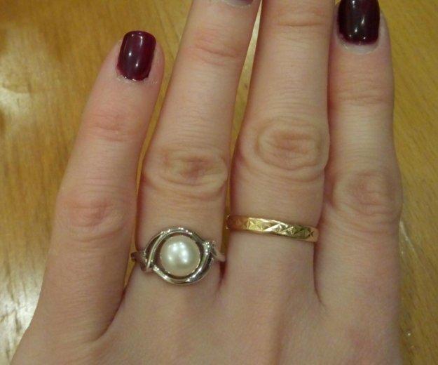 Кольцо серебро жемчуг 16. Фото 2. Долгопрудный.