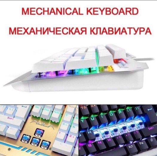 Игровая клавиатура с подсветкой aula. Фото 2. Мурино.