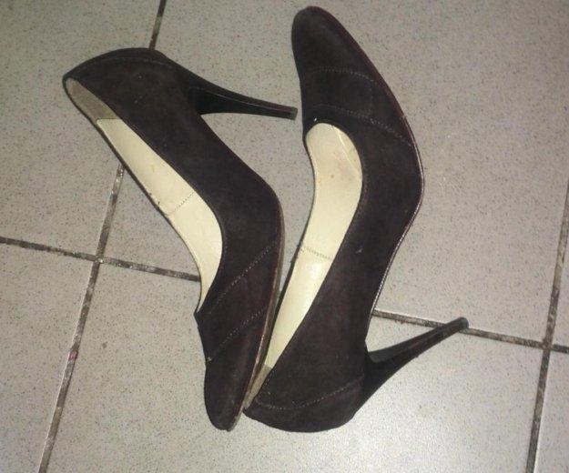 Туфли из натуральной замши. Фото 1.