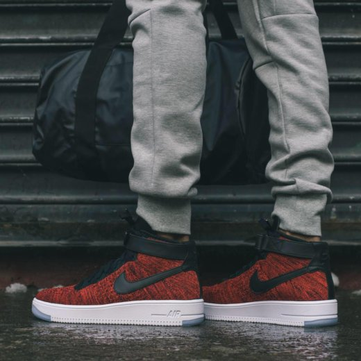 Nike air force 1 red flyknit. Фото 2. Пермь.