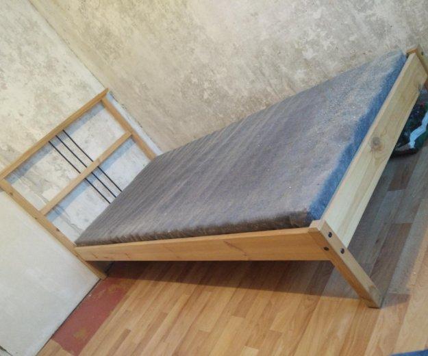 Кровать ikea с матрасом. Фото 1. Котельники.