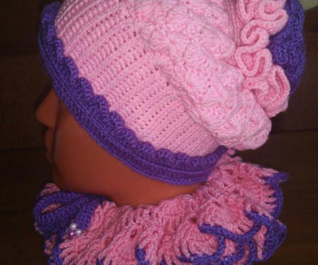 Комплект (шапка+ шарф). Фото 3. Москва.
