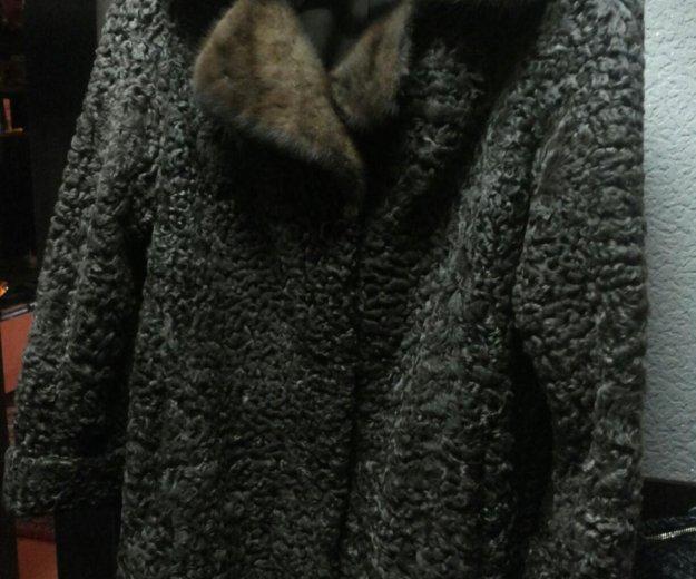 Шуба каракуль и шапка норковая. Фото 1. Москва.