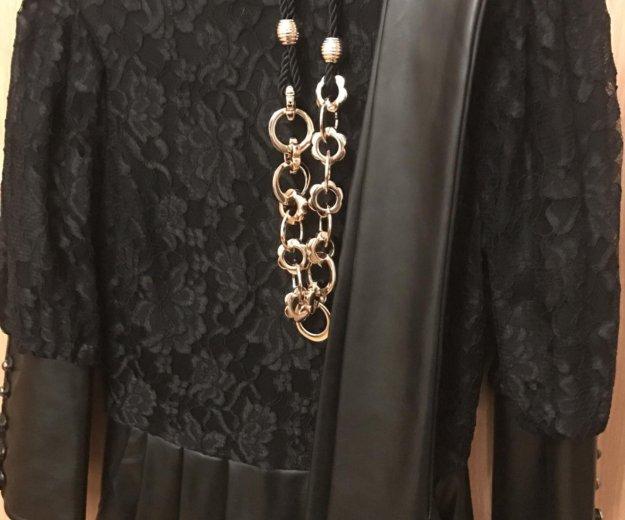Красивое платье с кож.зам,почти новое. Фото 2. Красногорск.