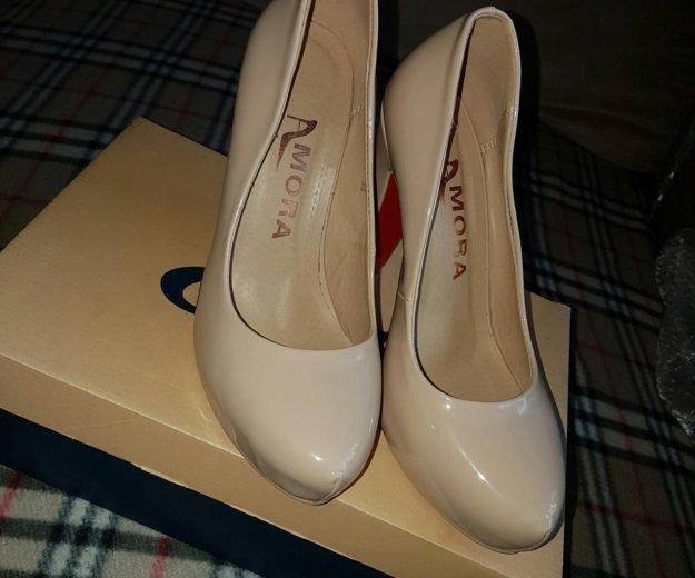 Туфли молочно-бежевые. Фото 1. Мытищи.