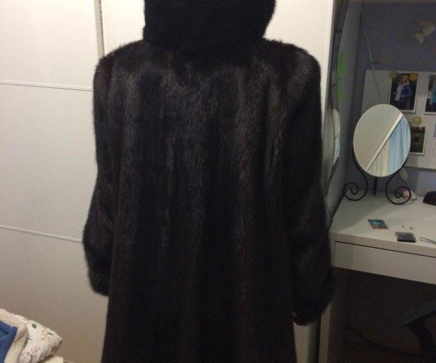 Норковая шуба (трапеция). Фото 1. Москва.