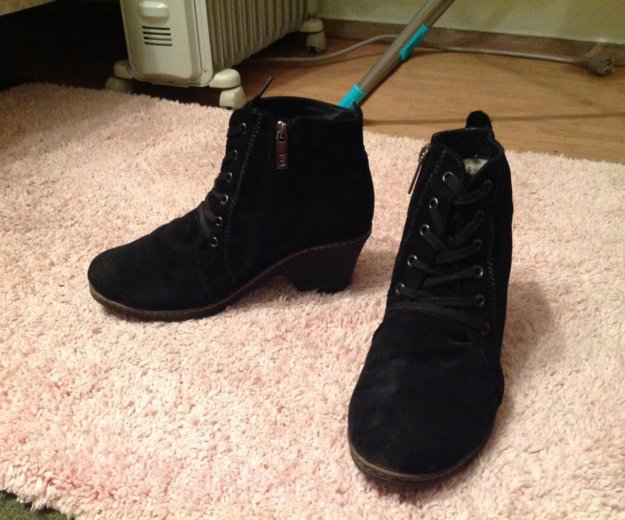 Замшевые зимние ботинки francesco donni. Фото 4. Санкт-Петербург.
