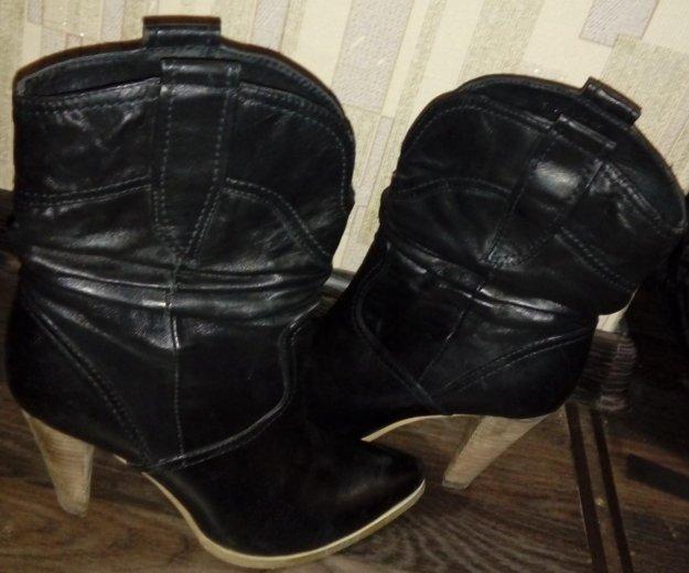 Зимние кожаные сапожки. Фото 2. Киржач.