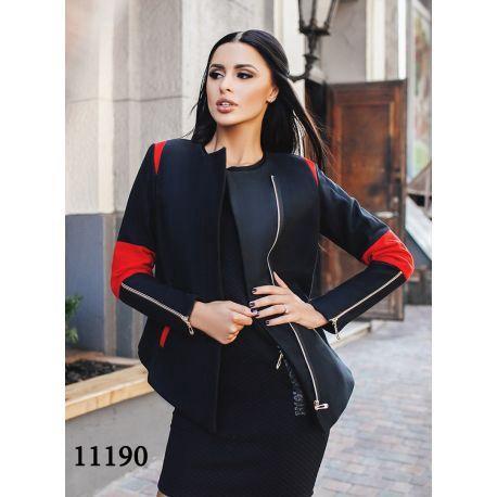 Женское пальто короткое со змейками на рукавах. Фото 2. Москва.