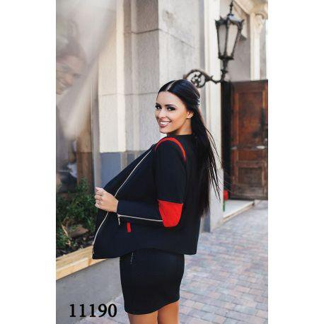 Женское пальто короткое со змейками на рукавах. Фото 3. Москва.