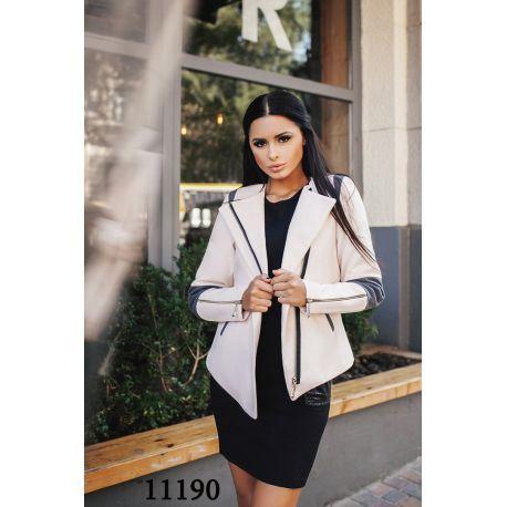 Женское пальто короткое со змейками на рукавах. Фото 4. Москва.