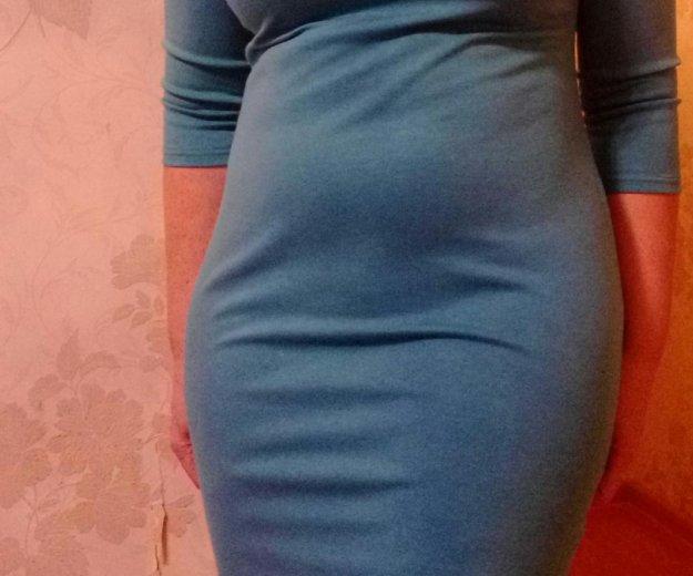 Нежно-голубое платье в офис. Фото 1. Москва.