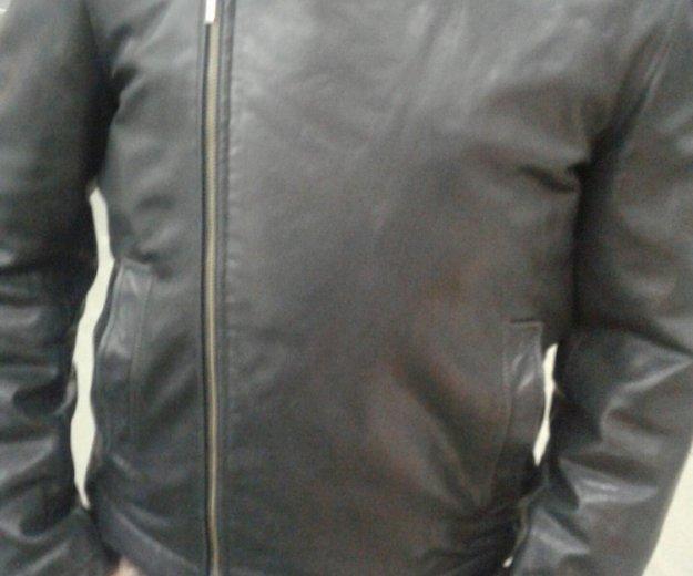Зимняя кожанная куртка. Фото 2. Москва.