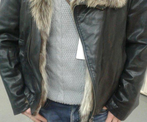 Зимняя кожанная куртка. Фото 4. Москва.