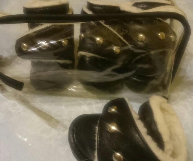 Ботинки для собак. кожа-зима. размер 4. Фото 1. Москва.